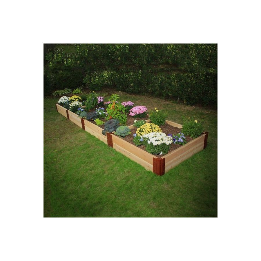 Scenery Solutions 192-in W x L x 12-in H Brown Cedar Raised Garden Bed