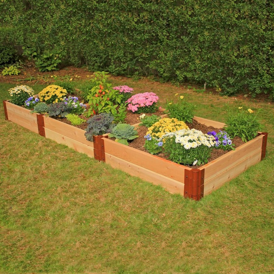 Scenery Solutions 96-in W x L x 12-in H Brown Cedar Raised Garden Bed