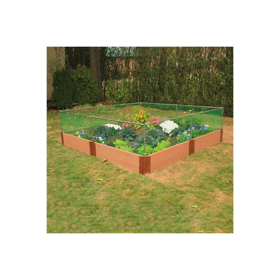 Scenery Solutions 96-in W x 12-in H Composite Raised Garden Bed
