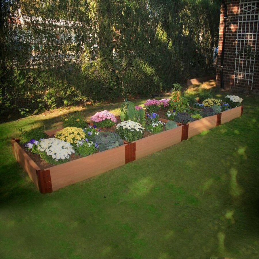 Scenery Solutions 192-in W x L x 12-in H Brown Composite Raised Garden Bed