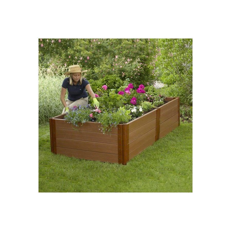 Scenery Solutions 96-in W x L x 24-in H Brown Composite Raised Garden Bed