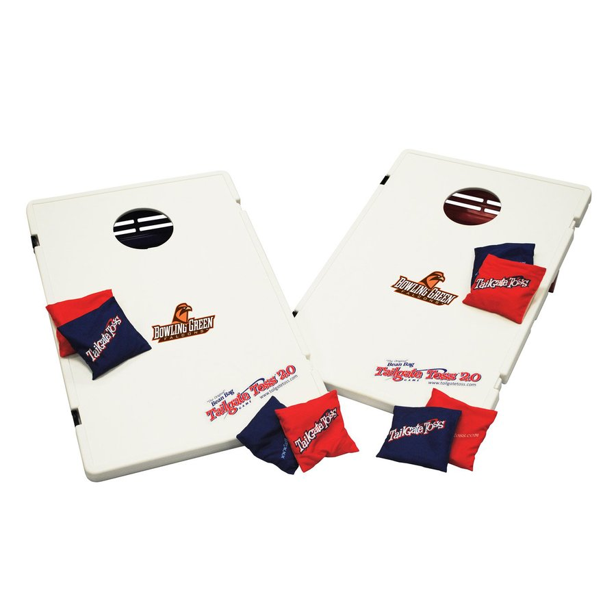 Wild Sports Bowling Green Falcons Outdoor Corn Hole Party Game with Case