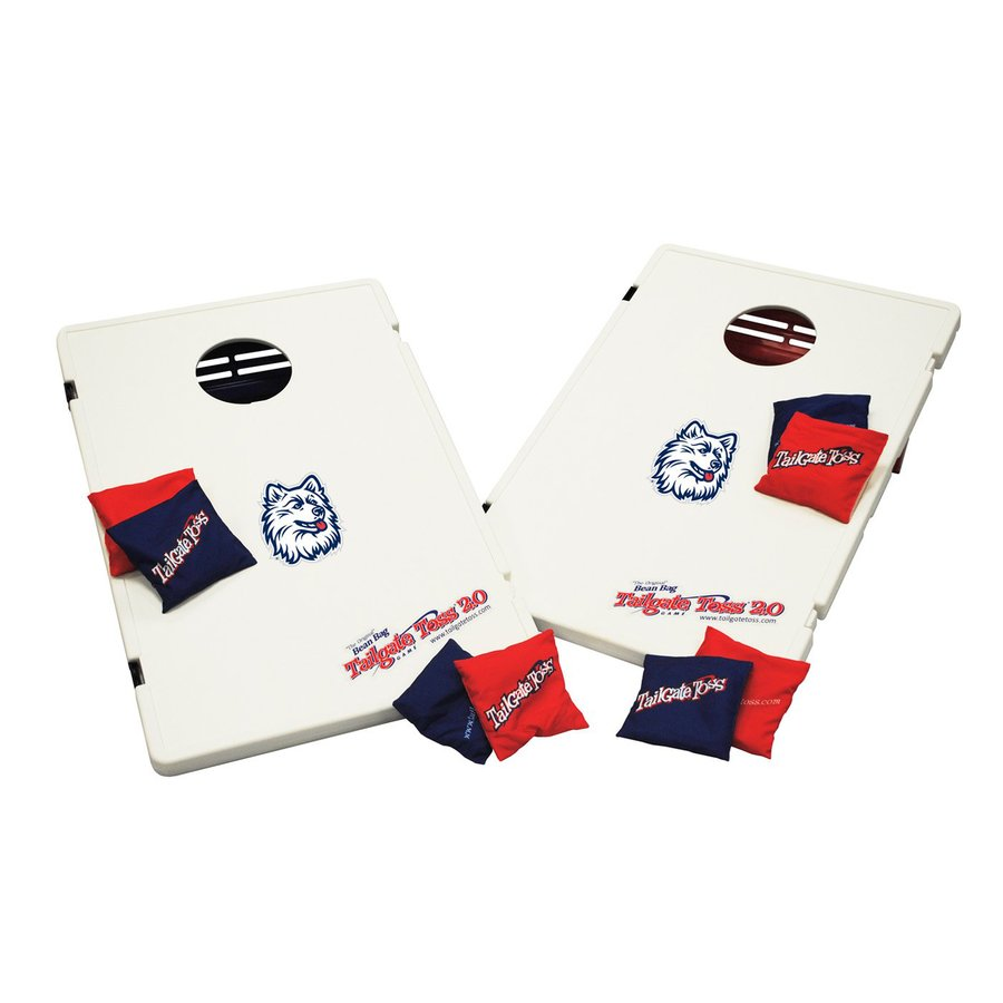 Wild Sports University of Connecticut Huskies Outdoor Corn Hole Party Game with Case