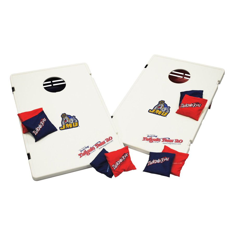 Wild Sports James Madison Dukes Outdoor Corn Hole Party Game with Case