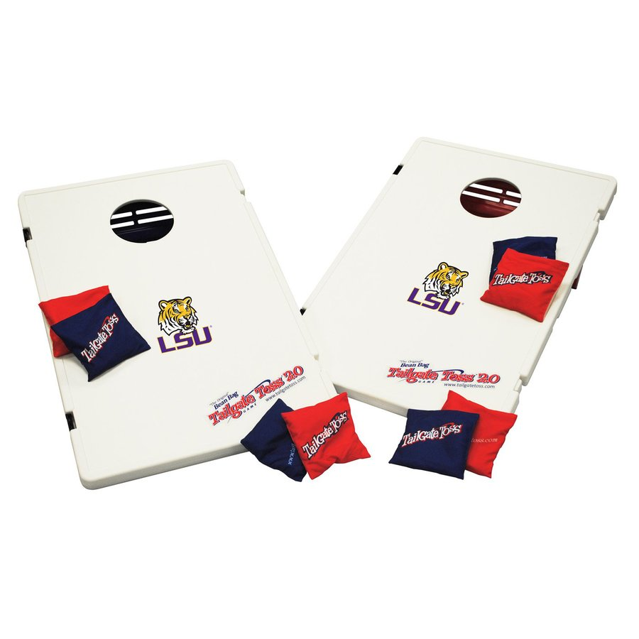 Wild Sports Louisiana State University Tigers Outdoor Corn Hole Party Game with Case