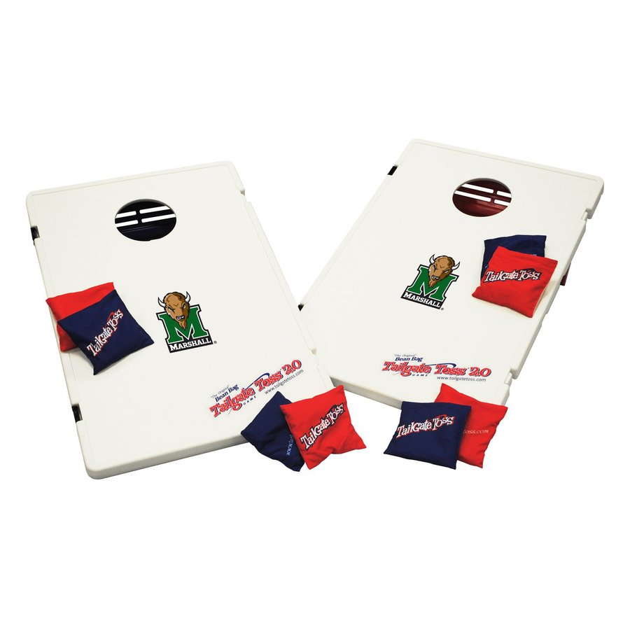 Wild Sports Marshall Thundering Herd Outdoor Corn Hole Party Game with Case