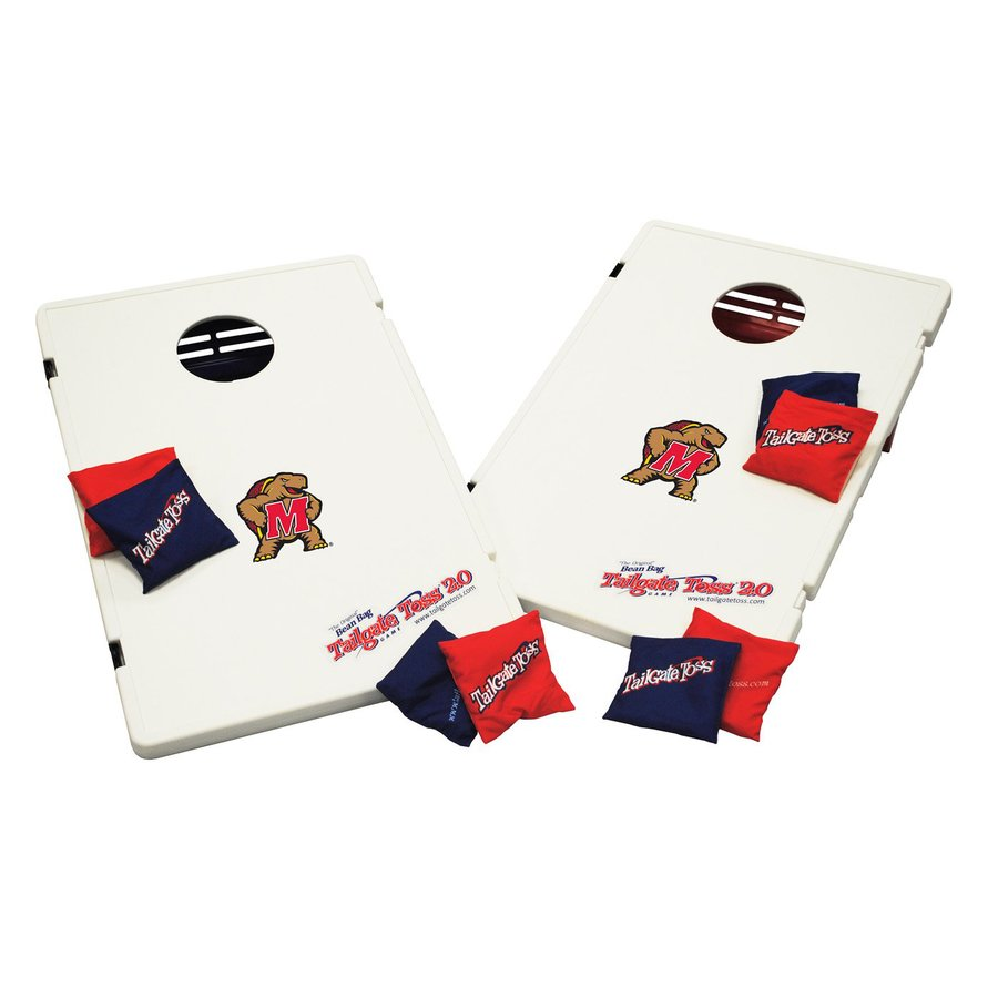 Wild Sports Maryland Terrapins Outdoor Corn Hole Party Game with Case