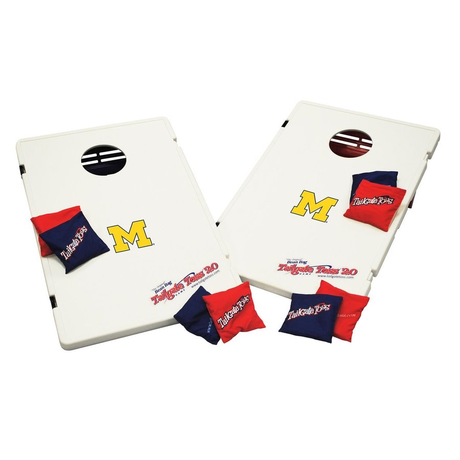Wild Sports Michigan Wolverines Outdoor Corn Hole Party Game with Case
