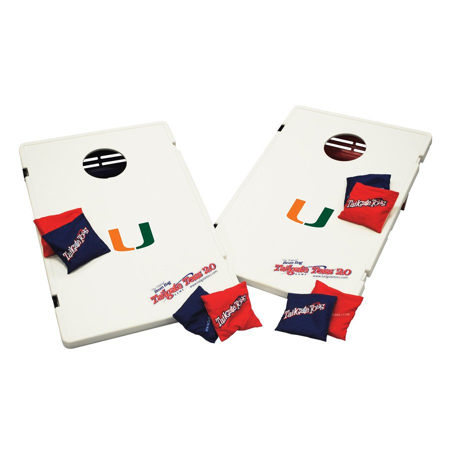 Wild Sports Miami Hurricanes Outdoor Corn Hole Party Game with Case