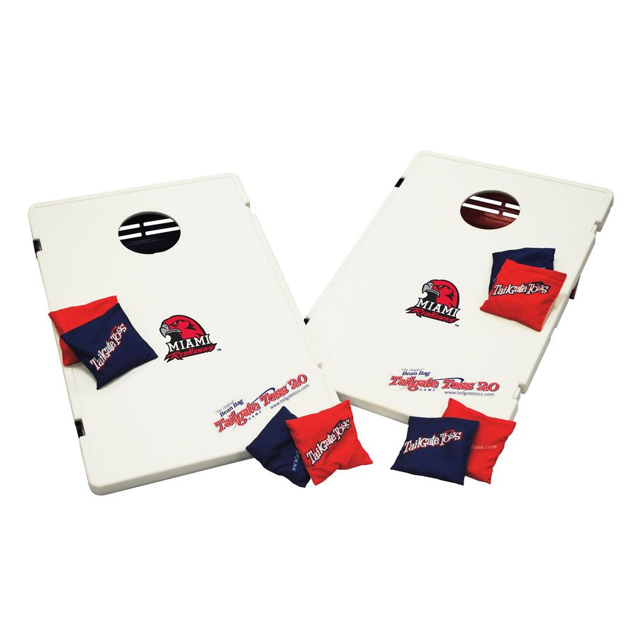 Wild Sports Miami Redhawks Outdoor Corn Hole Party Game with Case