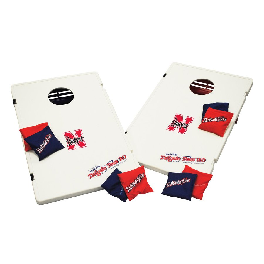 Wild Sports Nebraska Cornhuskers Outdoor Corn Hole Party Game with Case