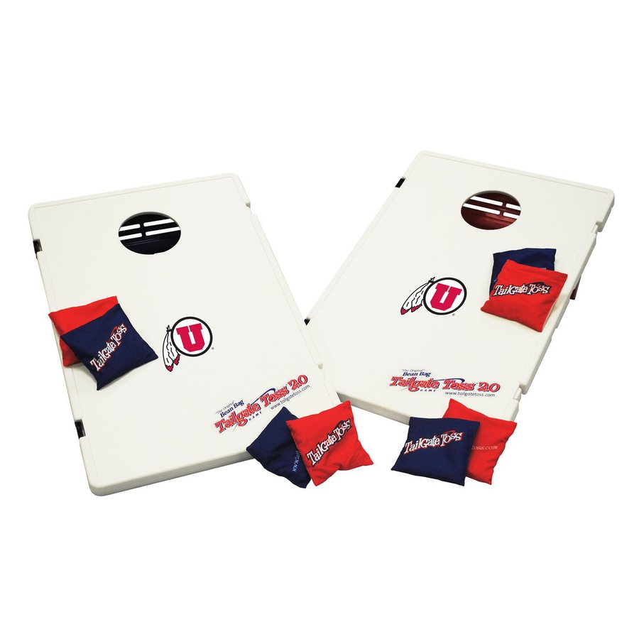 Wild Sports Utah Utes Outdoor Corn Hole Party Game with Case