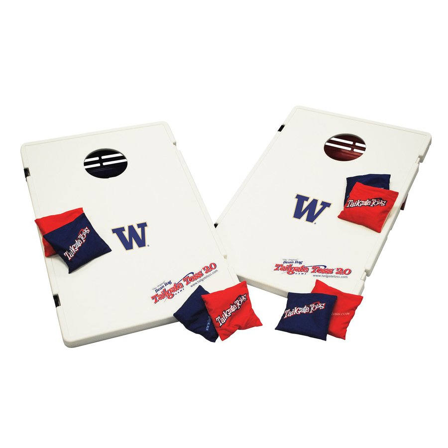 Wild Sports Washington Huskies Outdoor Corn Hole Party Game with Case