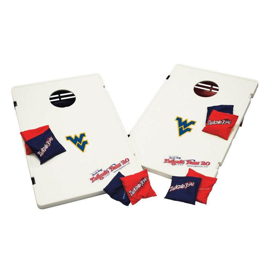 Wild Sports West Virginia Mountaineers Outdoor Corn Hole Party Game with Case