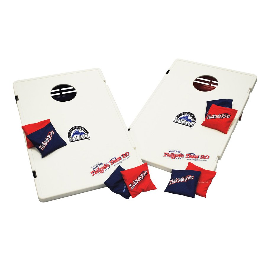 Wild Sports Colorado Rockies Outdoor Corn Hole Party Game with Case