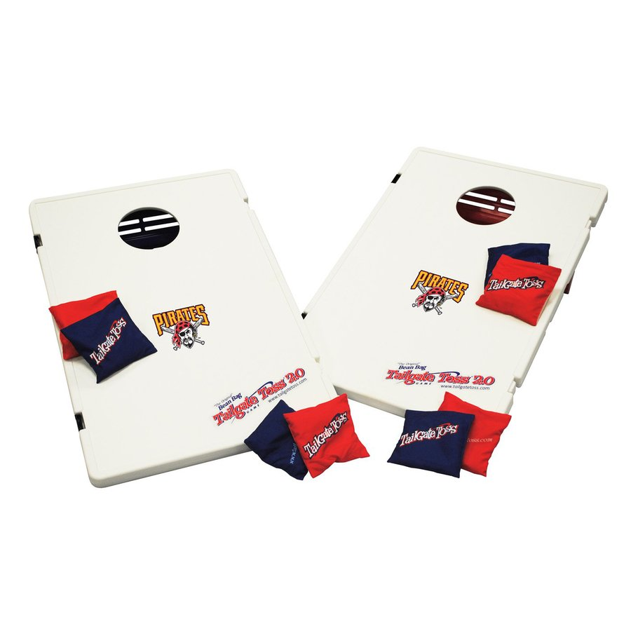 Wild Sports Pittsburgh Pirates Outdoor Corn Hole Party Game with Case