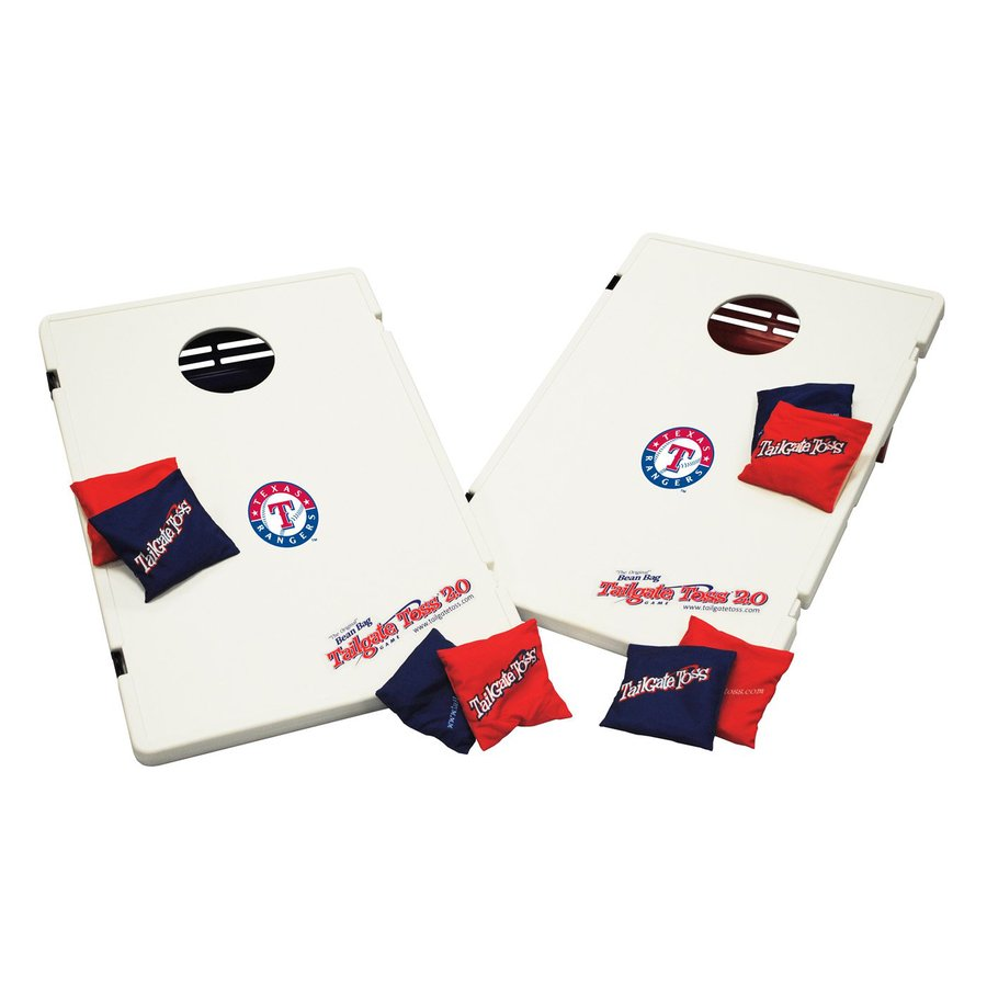 Wild Sports Texas Rangers Outdoor Corn Hole Party Game with Case