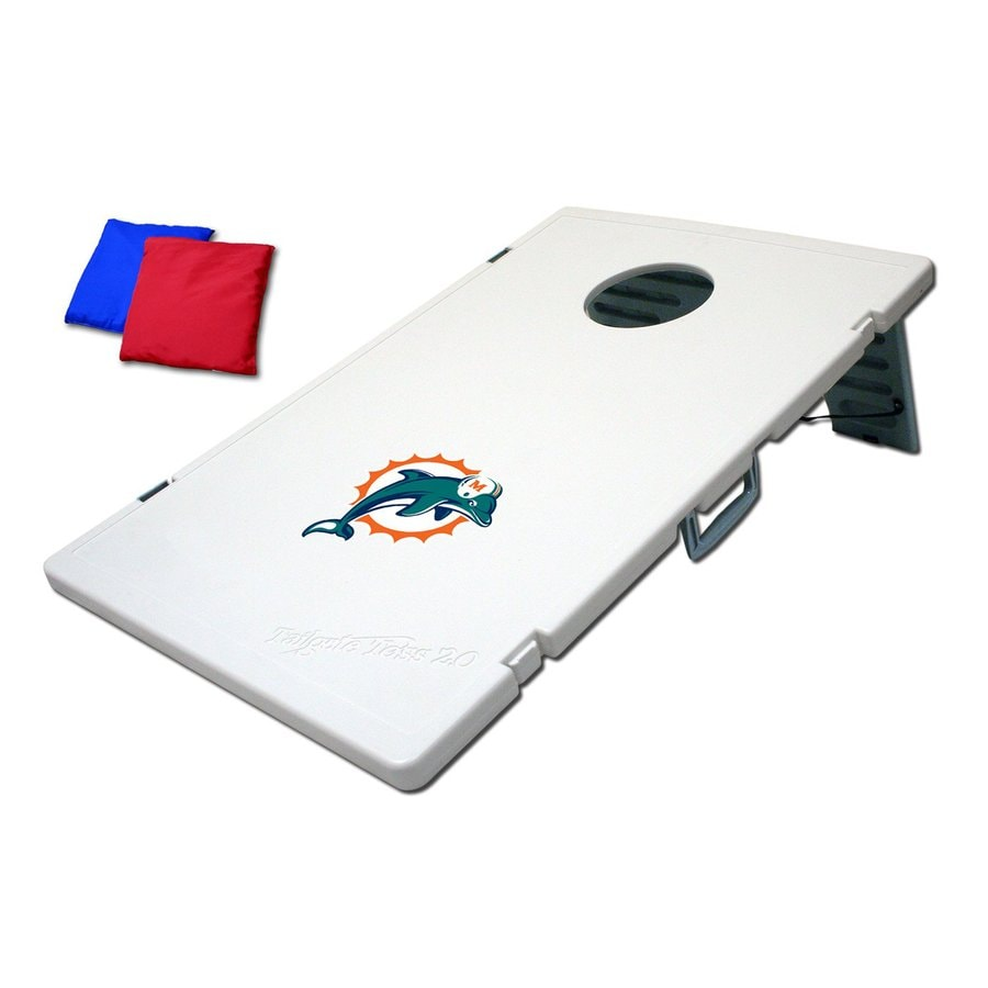 Wild Sports Miami Dolphins Outdoor Corn Hole Party Game with Case