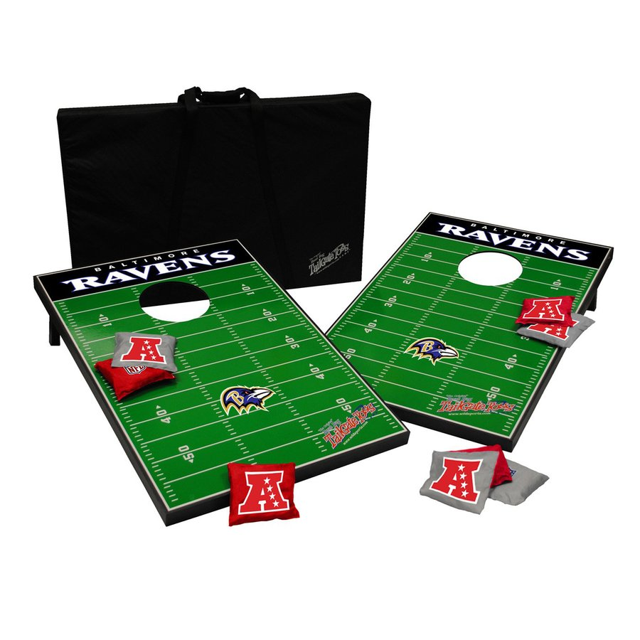 Wild Sports Baltimore Ravens Outdoor Corn Hole Party Game