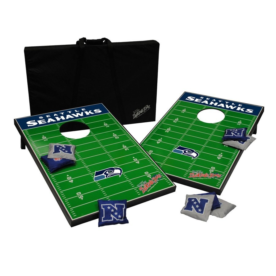 Wild Sports Seattle Seahawks Outdoor Corn Hole Party Game