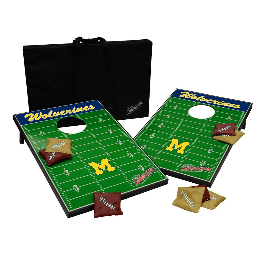 Wild Sports Michigan Wolverines Outdoor Corn Hole Party Game