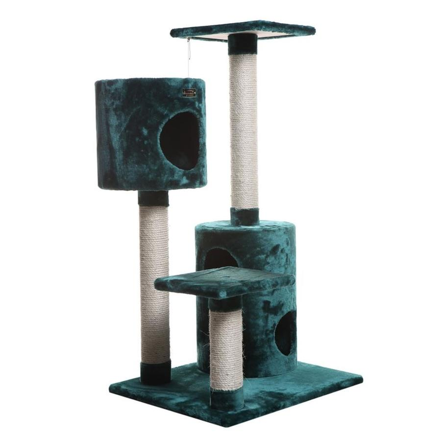 Armarkat 43-in Green Faux Fur 4-Level Cat Tree