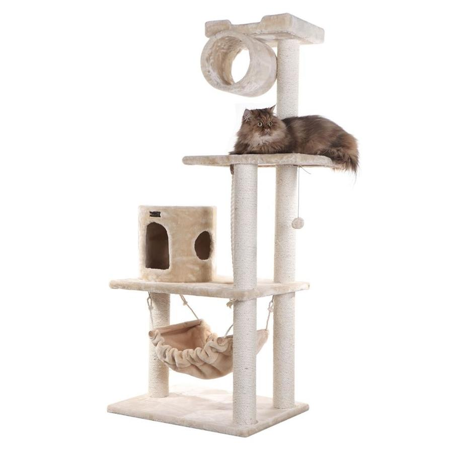 Armarkat 62-in Beige Faux Fur 3-Level Cat Tree