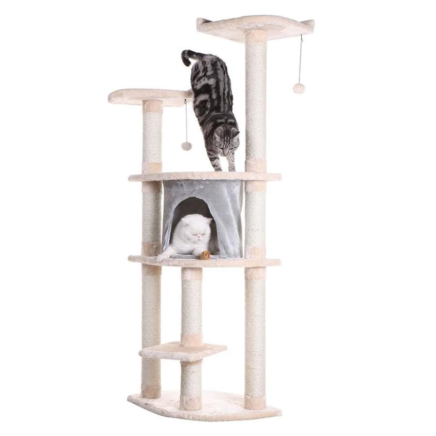 Armarkat 64-in Multicolor Faux Fur 6-Level Cat Tree