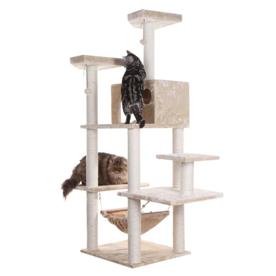 Armarkat 72-in Beige Faux Fur 8-Level Cat Tree