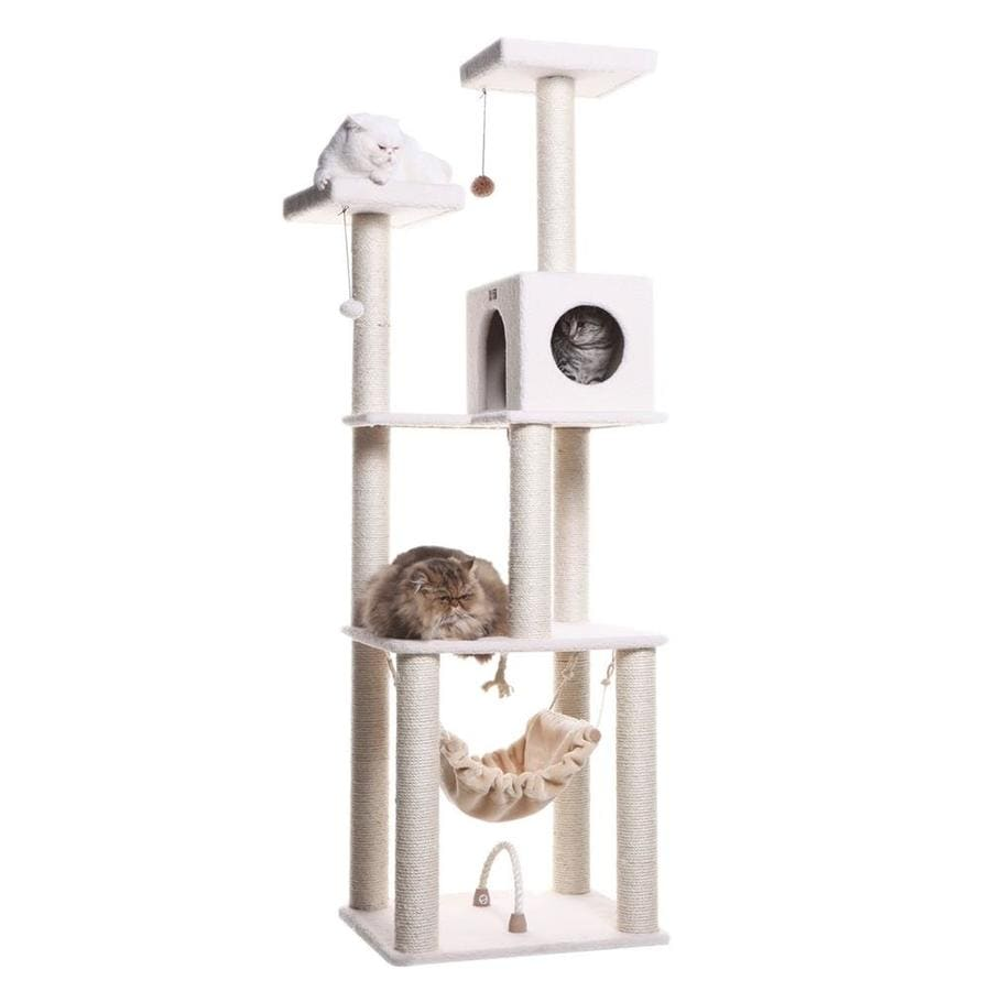 Armarkat 73-in Fleece 4-Level Cat Tree