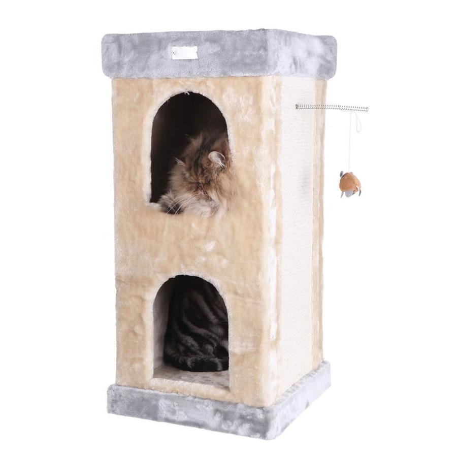 Armarkat 32-in Beige Faux Fur 3-Level Cat Tree
