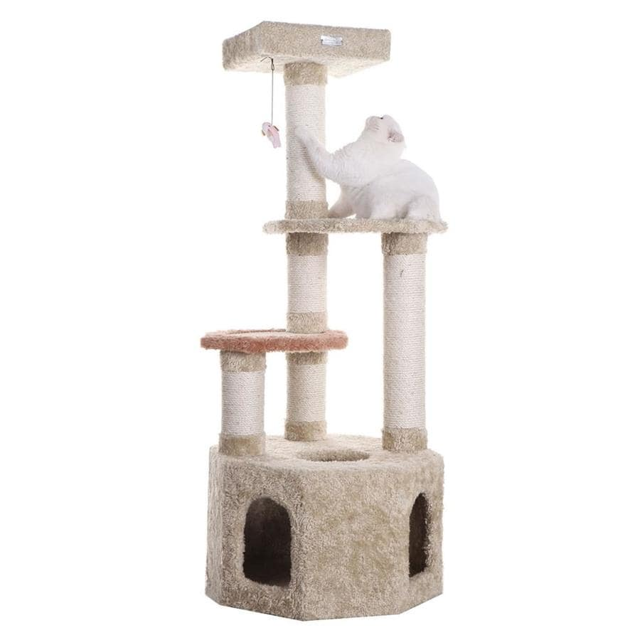 Armarkat 57-in Carpet 4-Level Cat Tree