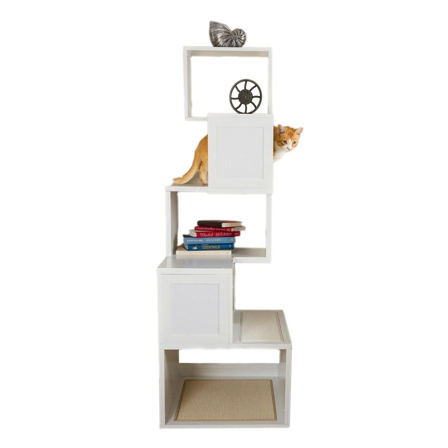 Designer Pet Products Sebastian 67-in White Carpet Cat Tree