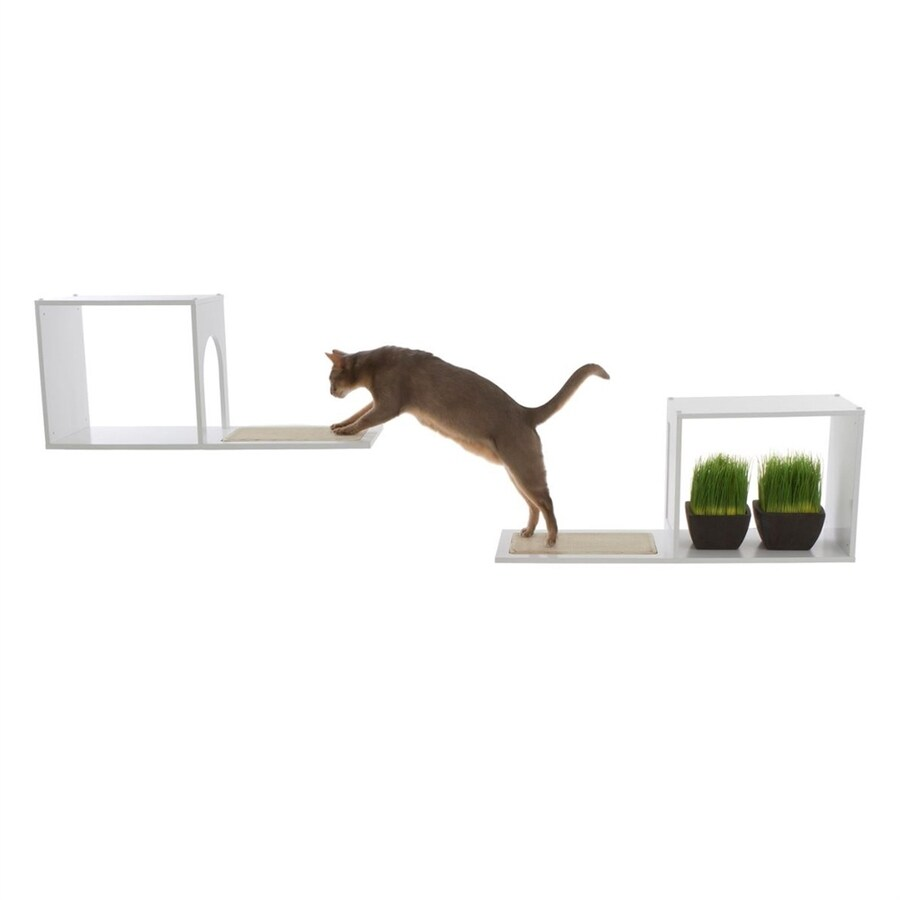 Designer Pet Products Sophia 13-in White Carpet Cat Tree