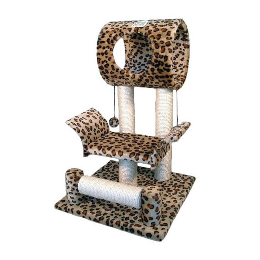 Go Pet Club 28-in Faux Fur 2-Level Cat Tree