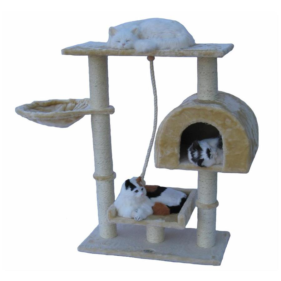Go Pet Club 36-in Beige Faux Fur 5-Level Cat Tree