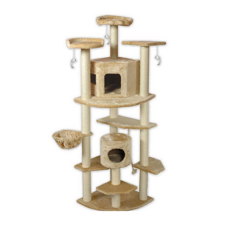 Go Pet Club 80 In Beige Faux Fur 13 Level Cat Tree At