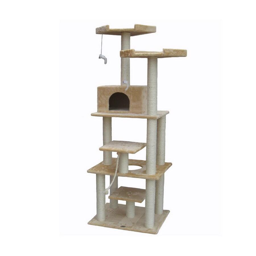 Go Pet Club 76-in Beige Faux Fur 8-Level Cat Tree