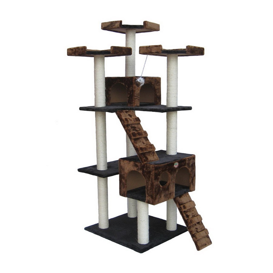 Go Pet Club 72-in Multicolor Faux Fur 8-Level Cat Tree