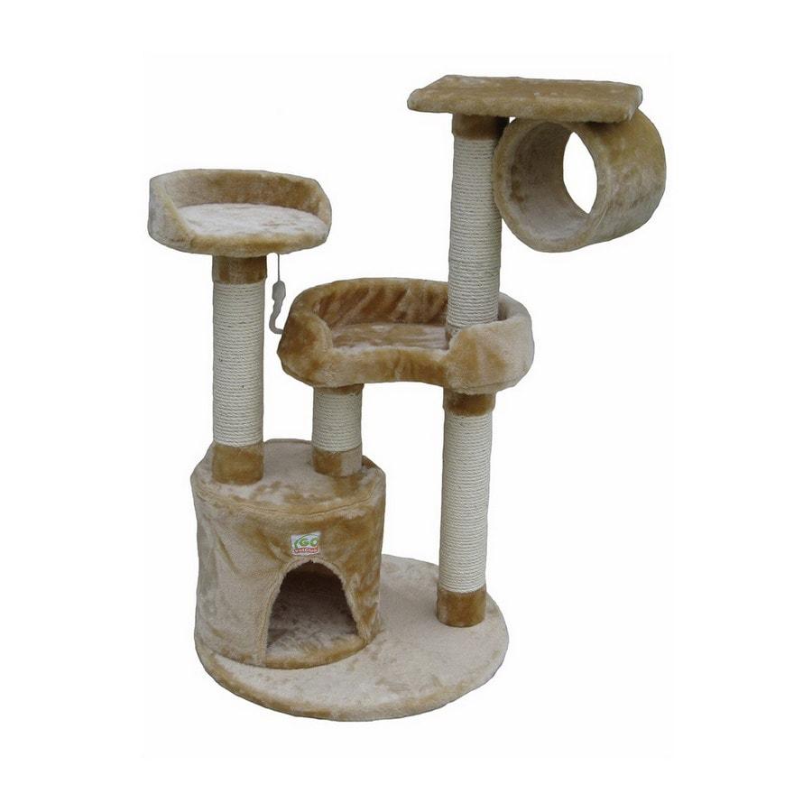 Go Pet Club 39.5-in Beige Faux Fur 6-Level Cat Tree