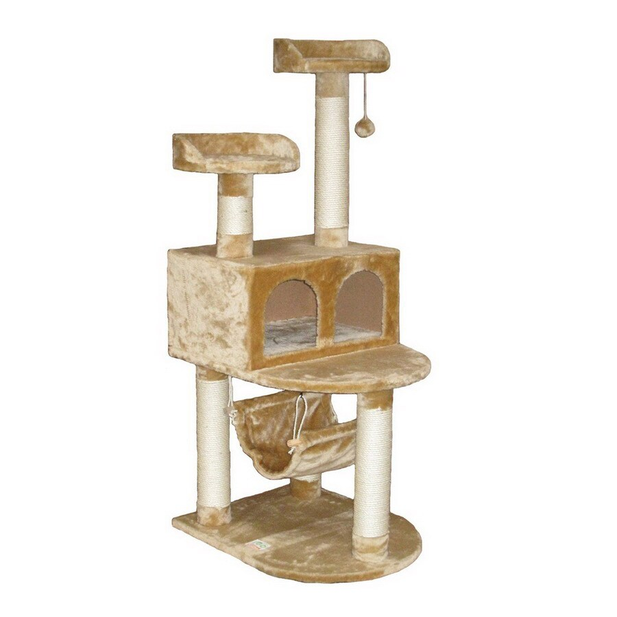 Go Pet Club 54-in Beige 4-Level Cat Tree