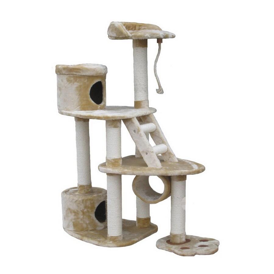 Go Pet Club 59-in Beige Faux Fur 7-Level Cat Tree