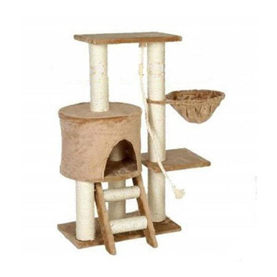 Go Pet Club 38-in Beige Faux Fur 8-Level Cat Tree