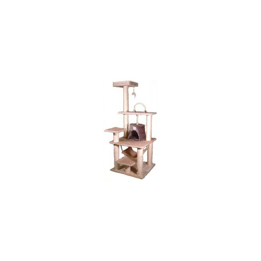 Go Pet Club 65-in Beige Faux Fur 8-Level Cat Tree