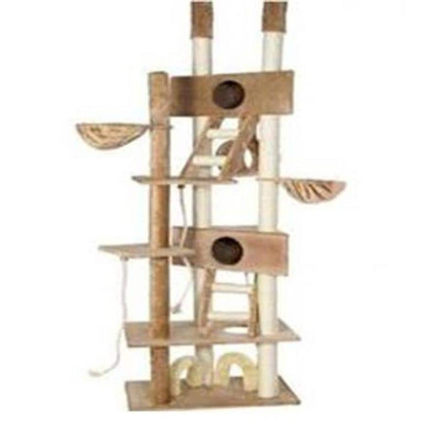 Go Pet Club 106-in Beige Faux Fur 25-Level Cat Tree