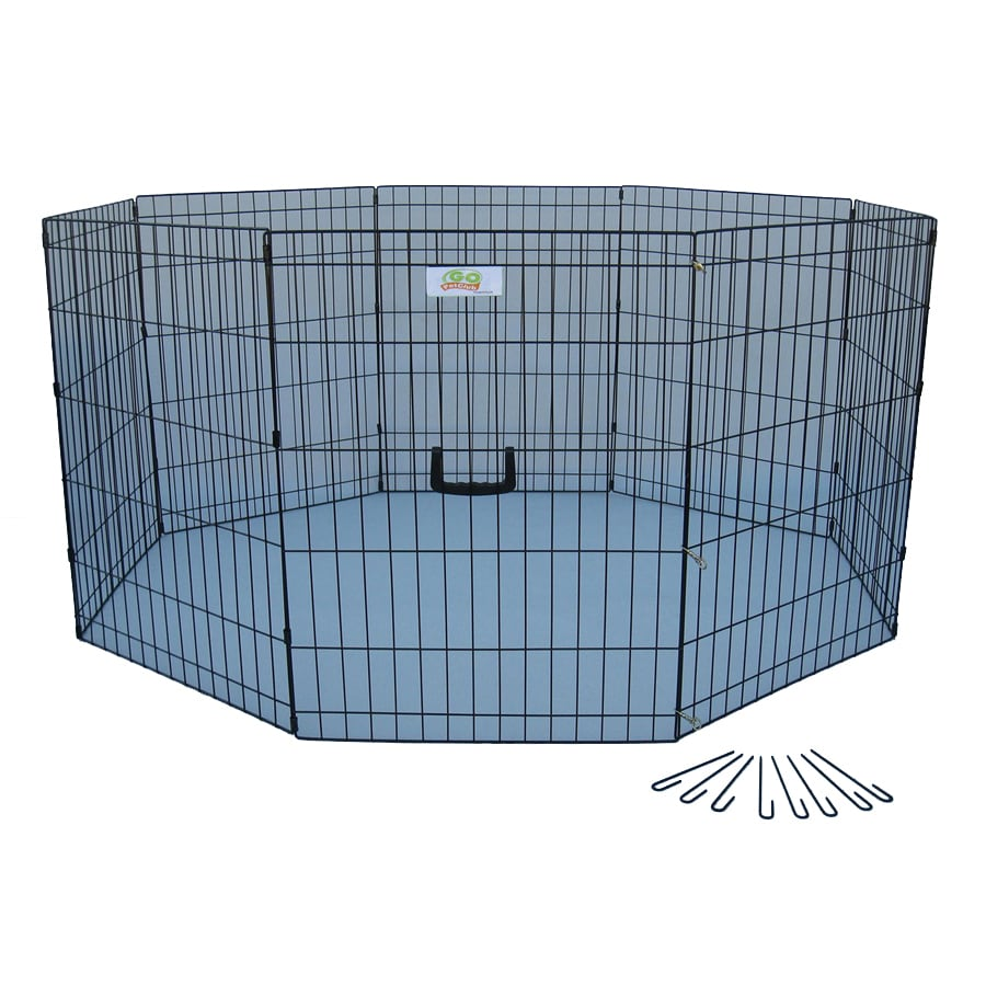 Go Pet Club 36-in x 24-in Black Indoor/Outdoor Exercise Pen