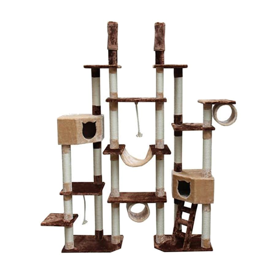 kitty mansions Rome 94-in Faux Fur Cat Tree