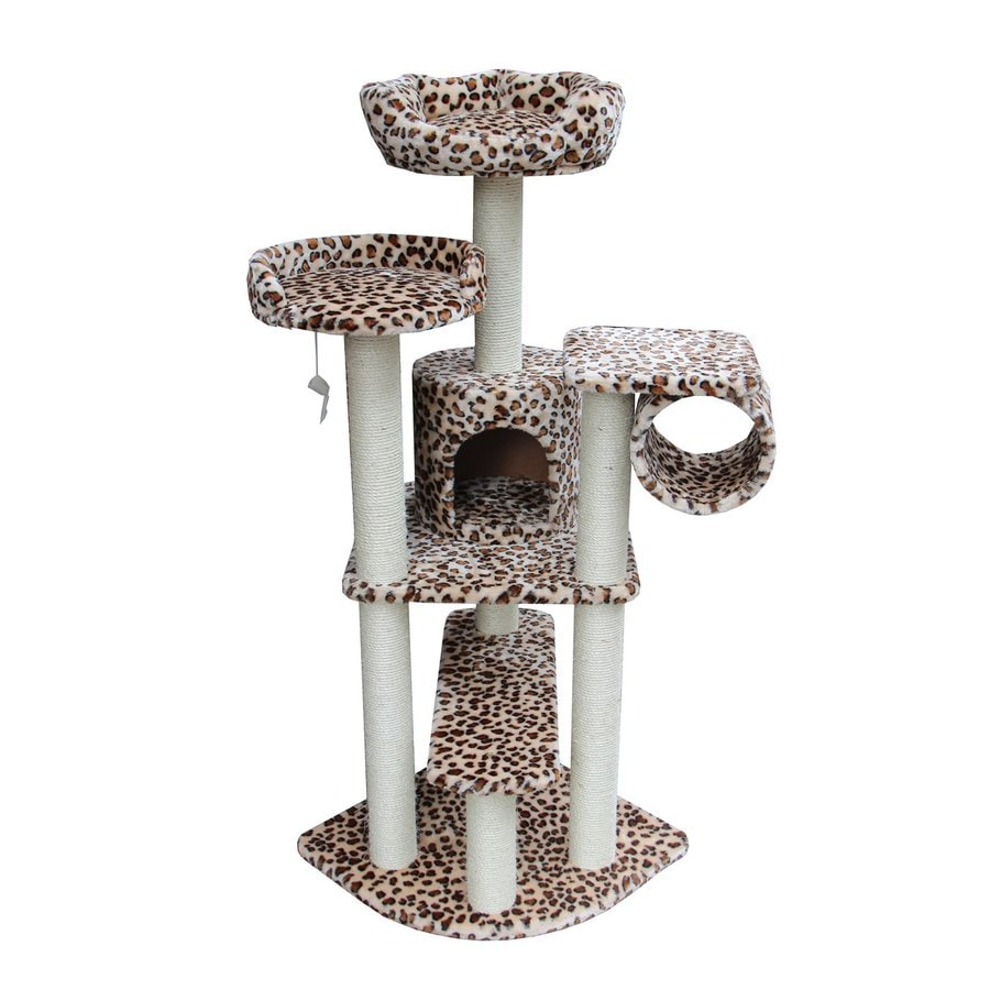 kitty mansions Safari 65-in Faux Fur Cat Tree