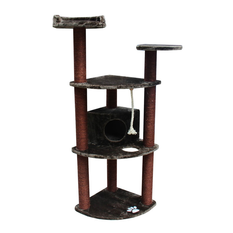 kitty mansions Spruce 60-in Faux Fur Cat Tree