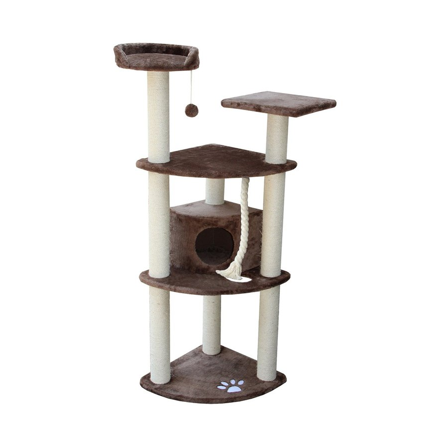 kitty mansions Toronto 60-in Brown Faux Fur Cat Tree